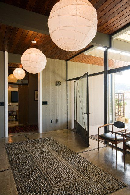 17 Welcoming Mid-Century Modern Entrance Designs That Will Invite