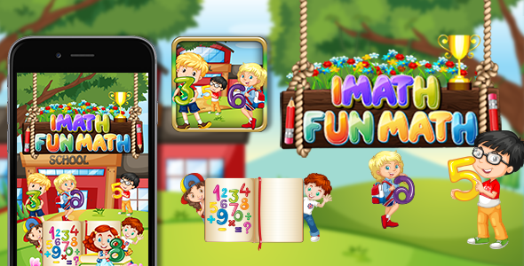 iMath Fun Learning Educational App Game for Kids | Template and ...