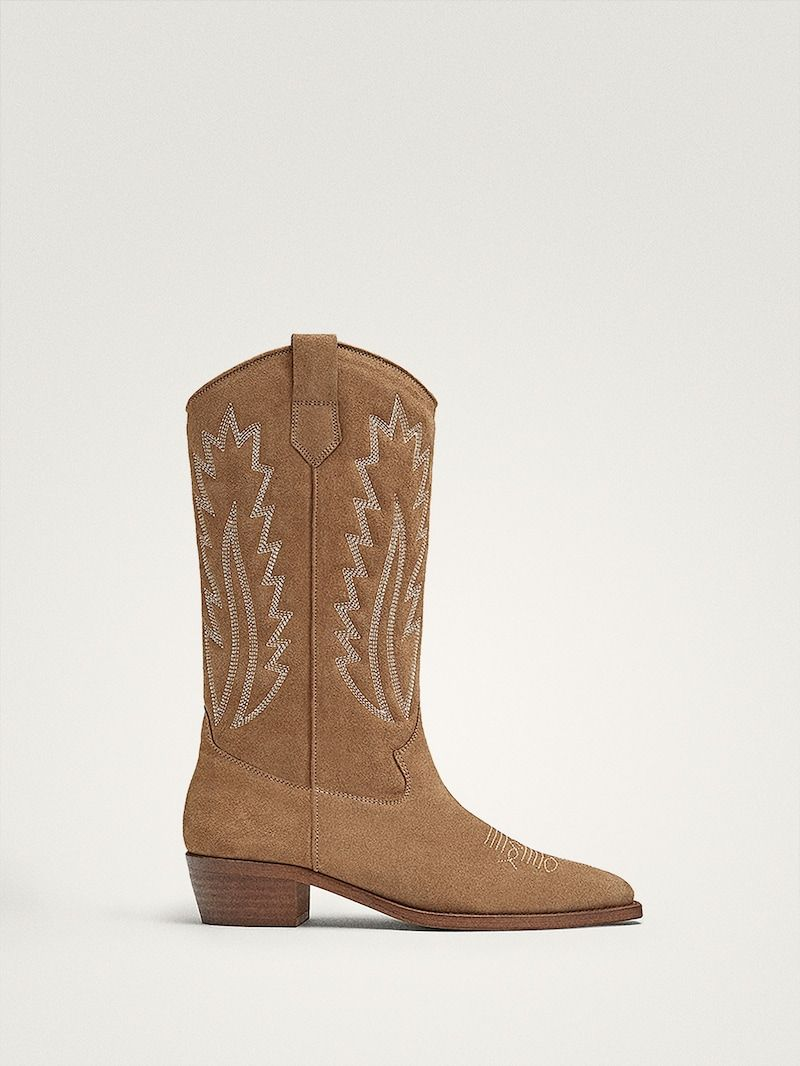 1e42ddb278b Maje Farwest suede cowboy boots in 2019 | Products | Suede cowboy ...