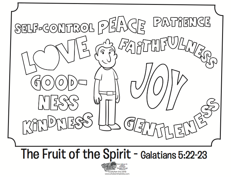 The Fruit Of The Spirit Coloring Page Whats In The Bible Fruit Of The Spirit Bible Coloring Pages Coloring Pages
