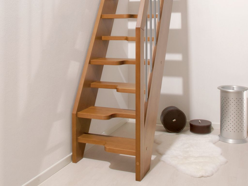 Fontanot Oxa Mini Stairs:solid Beech For Small Indoor Spaces | Fontanot  Staircases