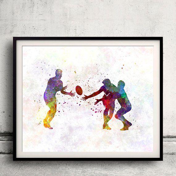 Best Rugby Men Player 07 Fine Art Print Glicee Poster Decor 400 x 300