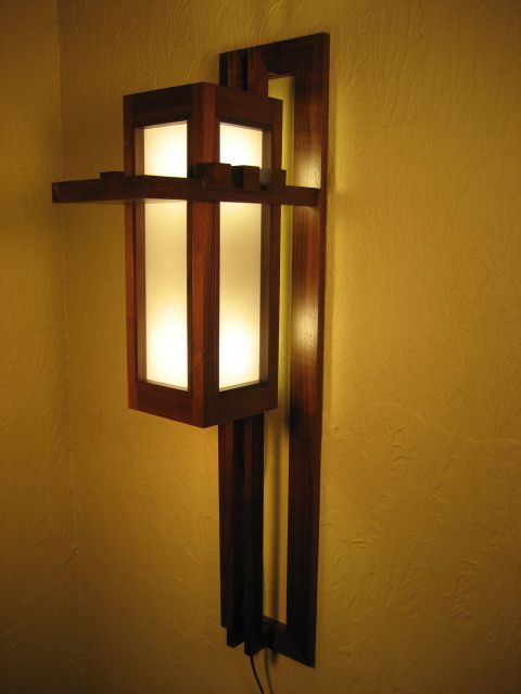 This Is A Sconce I Built Based On A Design By Frank Lloyd Wright For The  Francis W. The House Has Been Demolished But The Living Room Containing  Four Of The ...