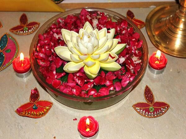 Lotus flower centerpiece nepali decor pinterest