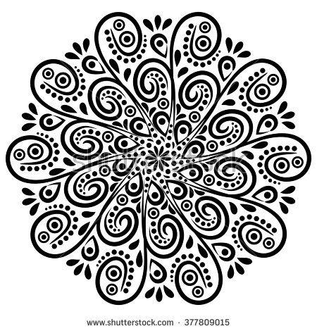 Mandala Background Art Tribal Medallion Vector Yoga