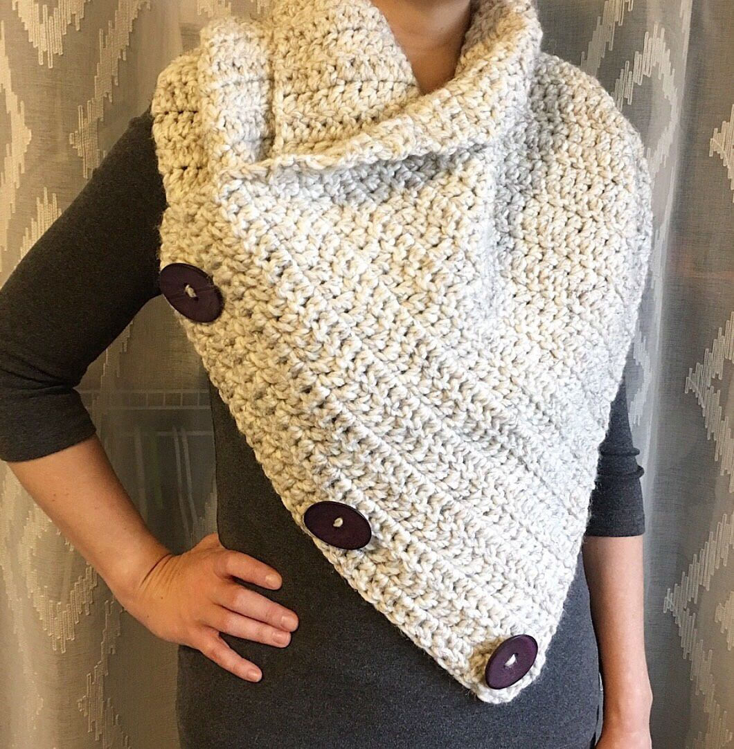Crochet cowl, Extra Large Cowl, Womens Cowl, Cowl neck scarf   Cowl ...