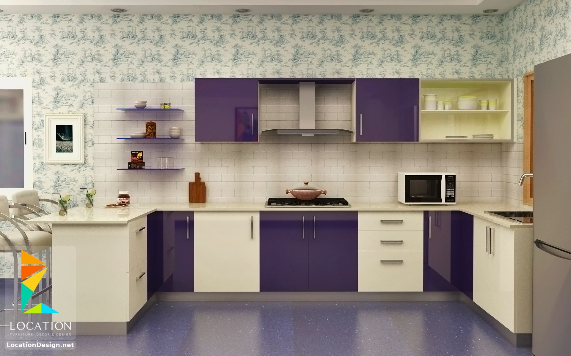 exclusive wonderful purple kitchen ideas | مطابخ - اشكال و افكار المطابخ الجديدة لعام 2018 | Kitchen ...