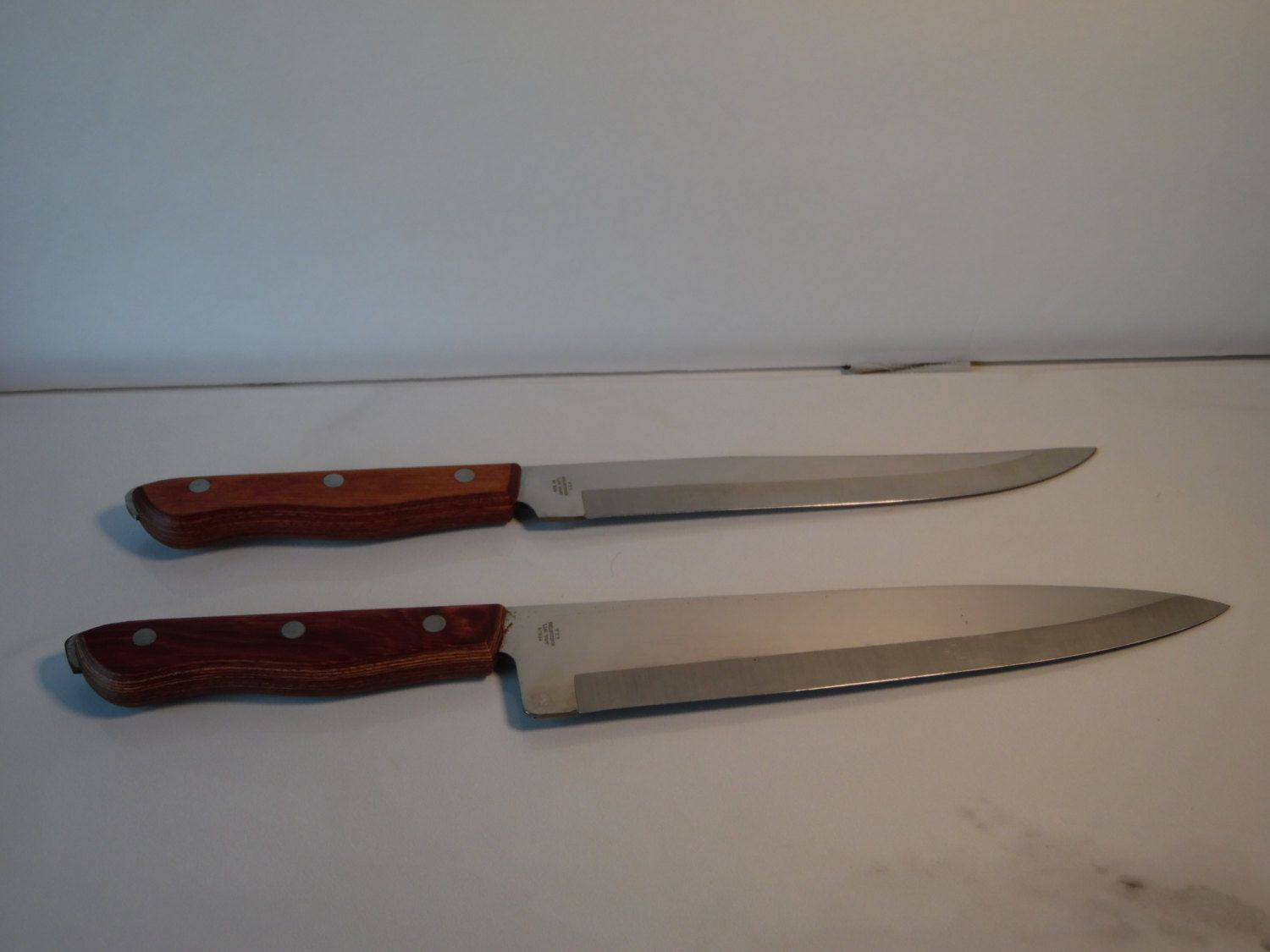 Nesting Knife Set Vintage Maxam Precision Hollow Ground Fine Stainless Steel Chef