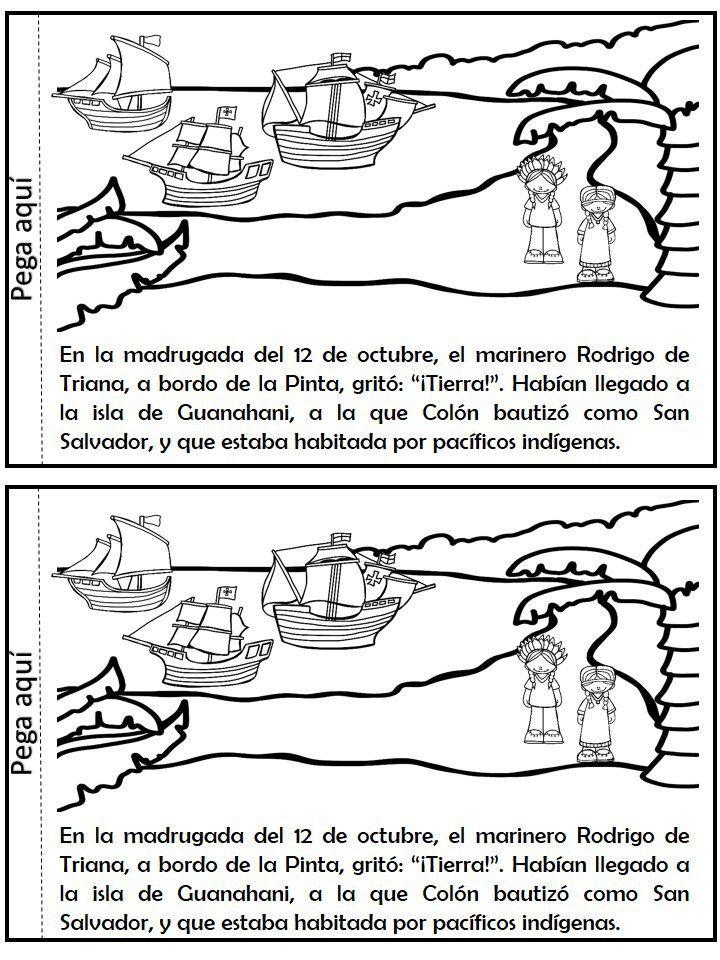 Libro Interactivo Descubrimiento De America Cristobal Colon Cristobal Colon Viajes De Cristobal Colon Descubrimiento America