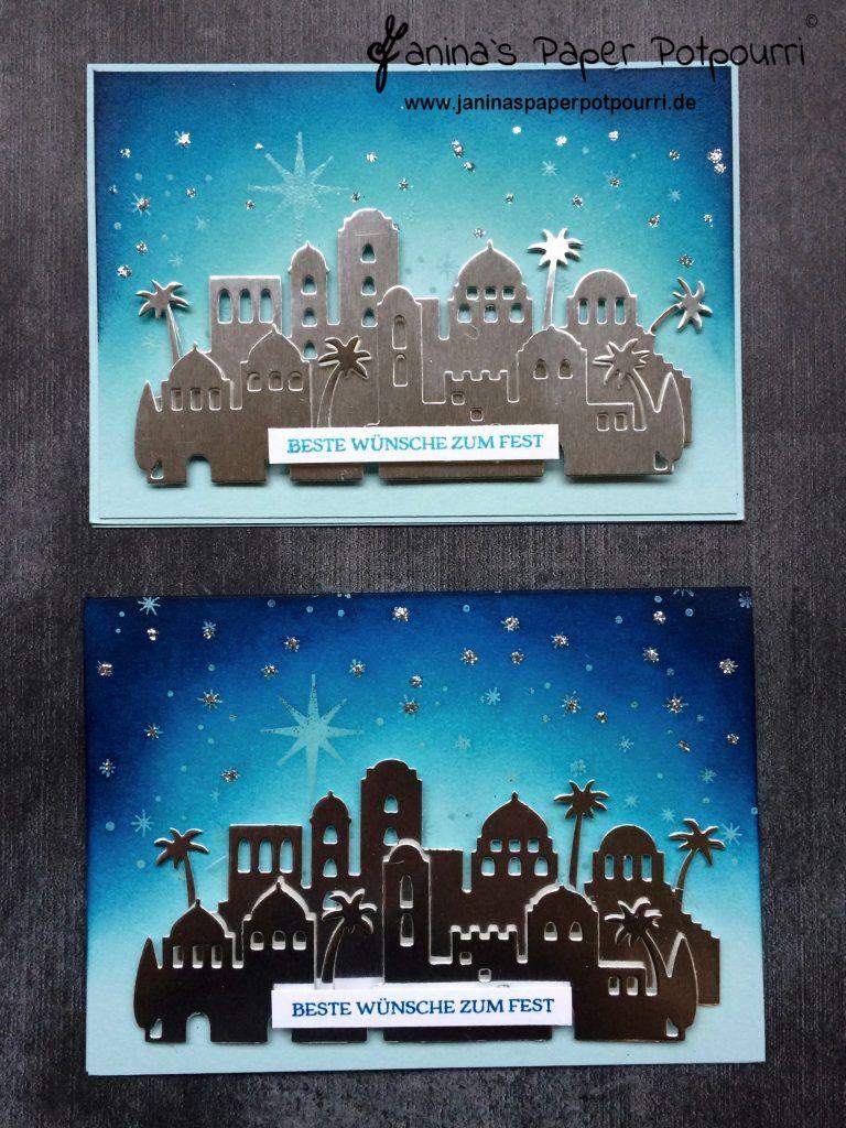 Weihnachtskarten Berlin.Orientalische Weihnachtskarten Bethlehem Mit Farbverlauf