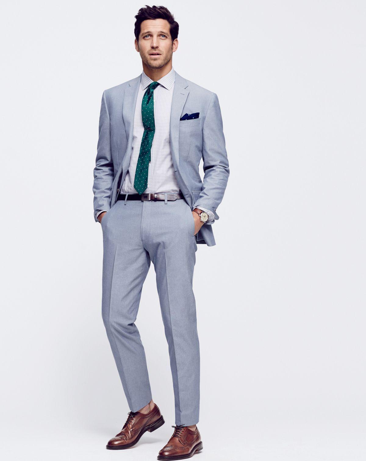 3df5fa5b7c010 J.Crew men s Crosby suit in Italian cotton oxford cloth