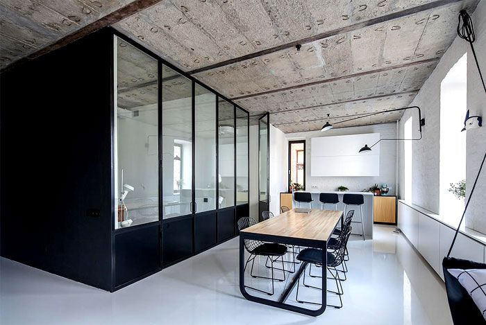 Moscow Apartment by Crosby Studios crosby studios apartment industrial  design elements 1