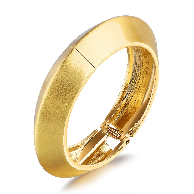 Punk hiphip jewelry fashion bracelet gold smooth women ladies cuff
