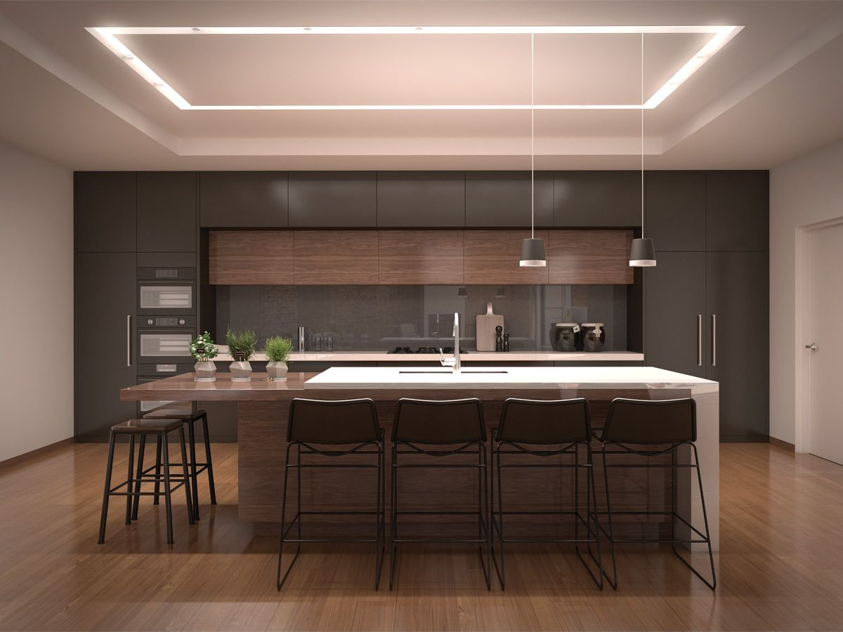Merge Recessed Linear System Element Lighting Kitchen Lighting