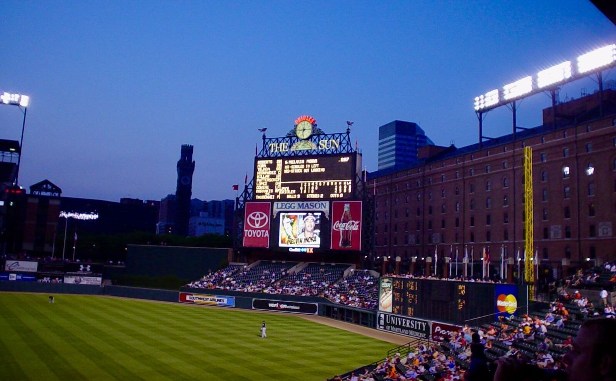 Oriole Park At Camden Yards Baltimore Maryland Camden Yards Maryland Orioles