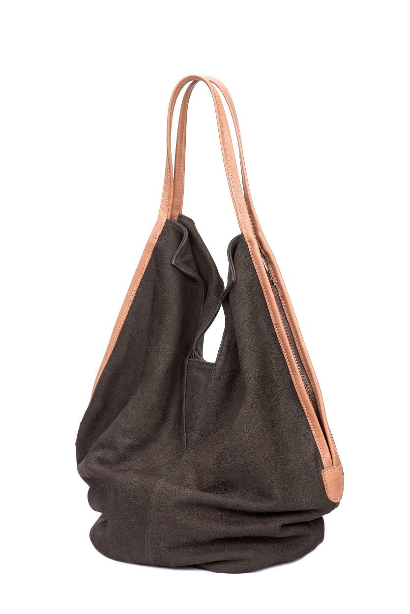 4c235efd1cbc Dark Grey Soft Leather Bag leather tote bag by LadyBirdesign ...