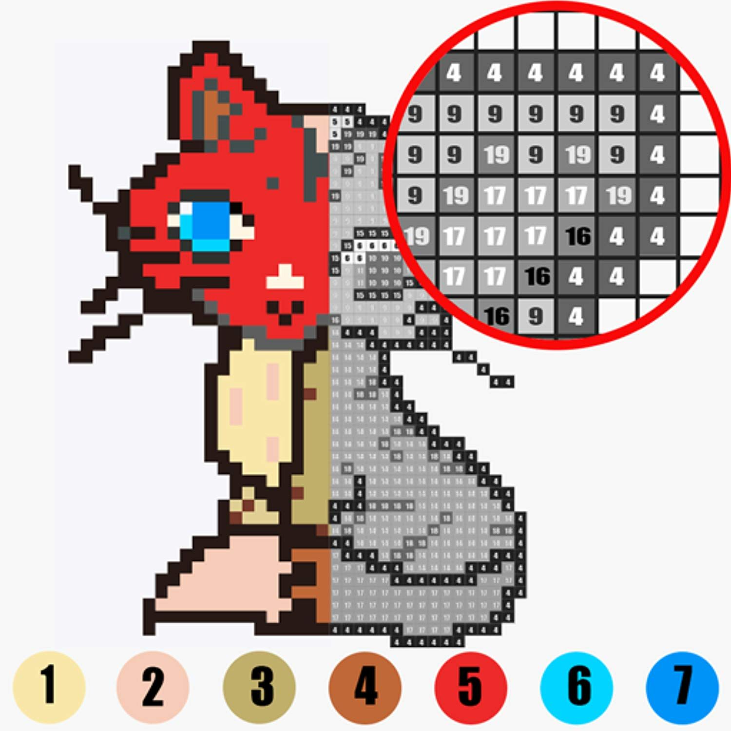 Coloring Colorpixnu Pixel Art Coloring By Number For More Information Visit Image Link This Is An Affiliate Link A Art Color Games