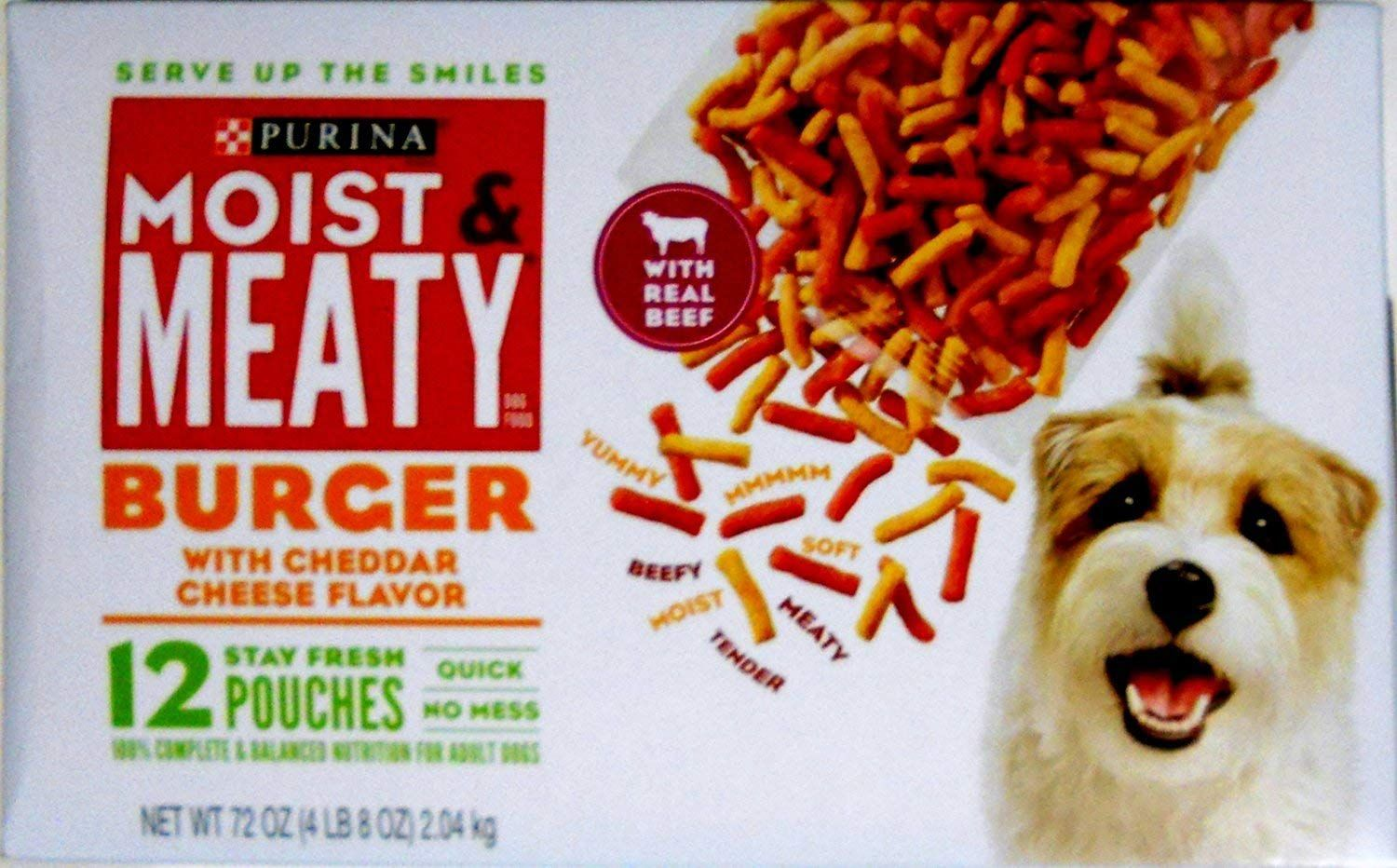 Purina Moist And Meaty Burger With Cheddar Cheese Flavor Dog Food