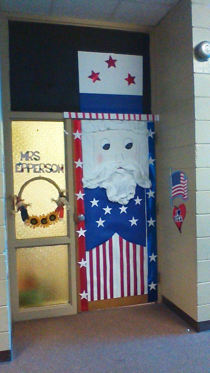 Veterans Day Classroom Door Decoration Ideas ~ Uncle sam door decoration for spirit day work