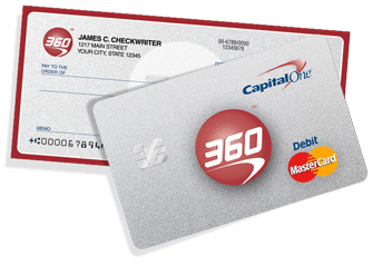 Capital One 360 checkbook and debit card | Projects to Try