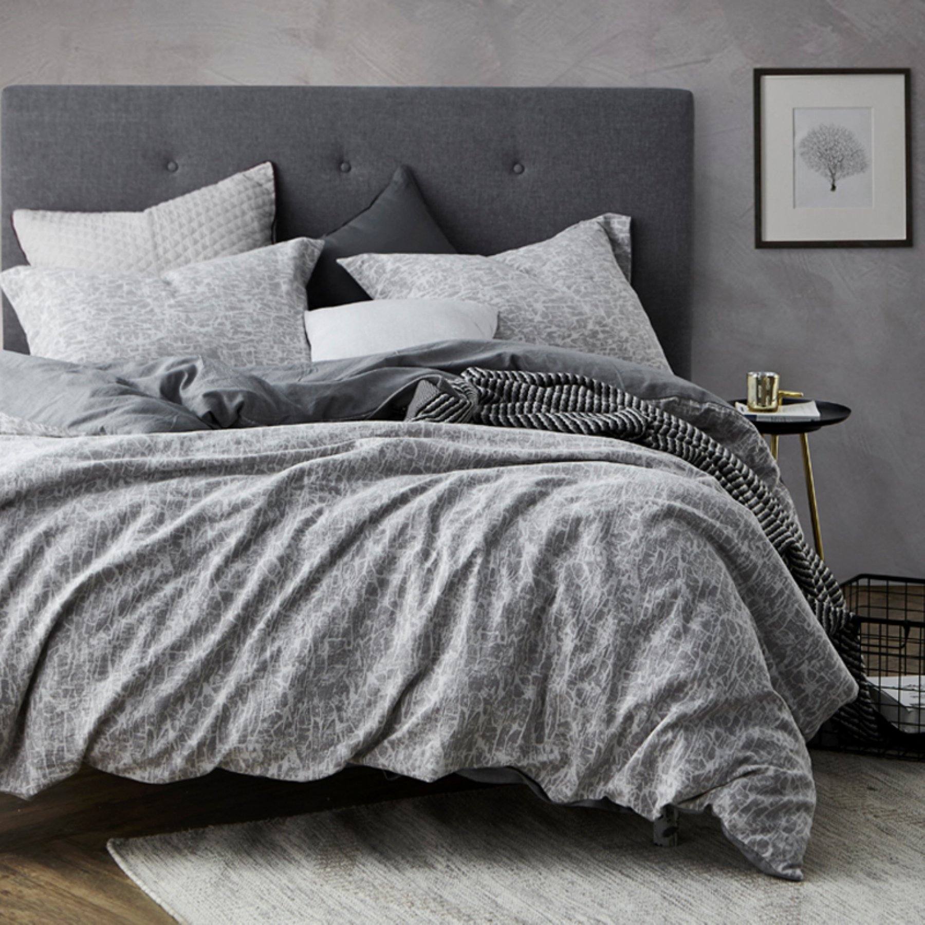 Cracked Earth Duvet Set By Byourbed  104Duvt Byb Txl