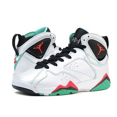 Nike Girls Air Jordan 7 Retro Verde 30th Gs Kids 705417-138 Shoes Youth Size
