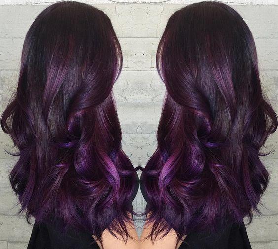 Модный цвет волос для брюнеток 2020| Балаяж, Цвет волос, Прически