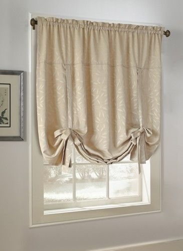 Curtain Bath Outlet Whitfield Jacquard Tie Up Curtain Shade 17