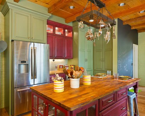Kitchen, Decorative Color For Country Kitchen Cabinets Painting Ideas:  Excess of Country Kitchen Cabinet