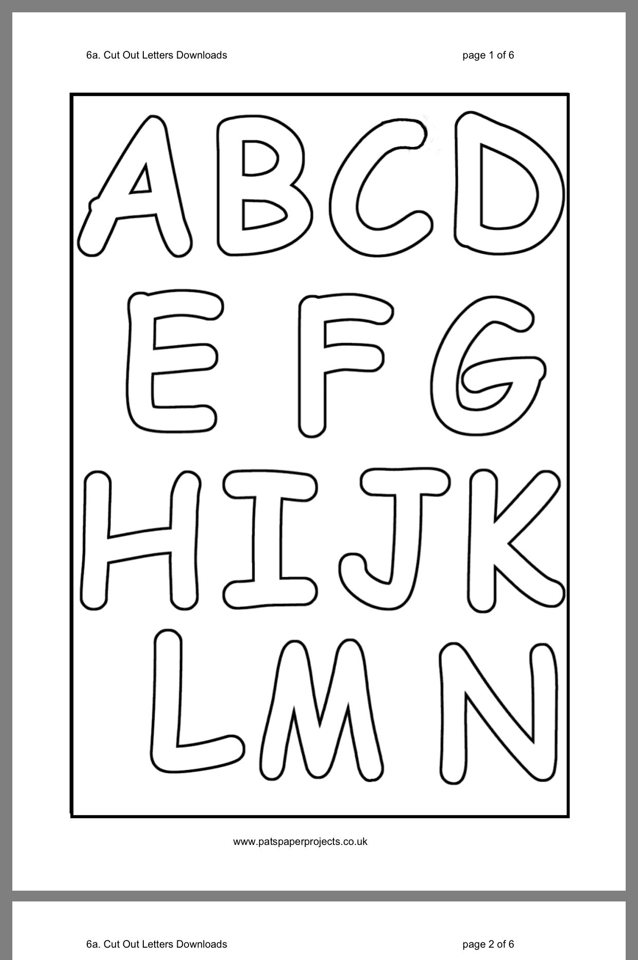 Printable Cut Out Letters Alphabet That Are Ridiculous