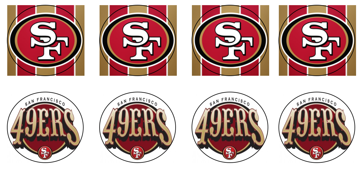 San Francisco 49ers Free Cupcake Topper Printable