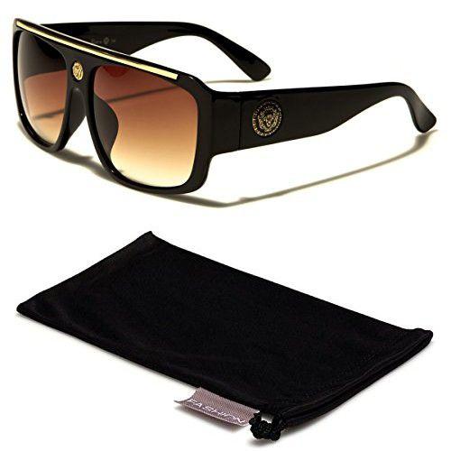 95d35ed125e1 Kleo Flat Top Hip Hop Rapper Retro Aviator Sunglasses