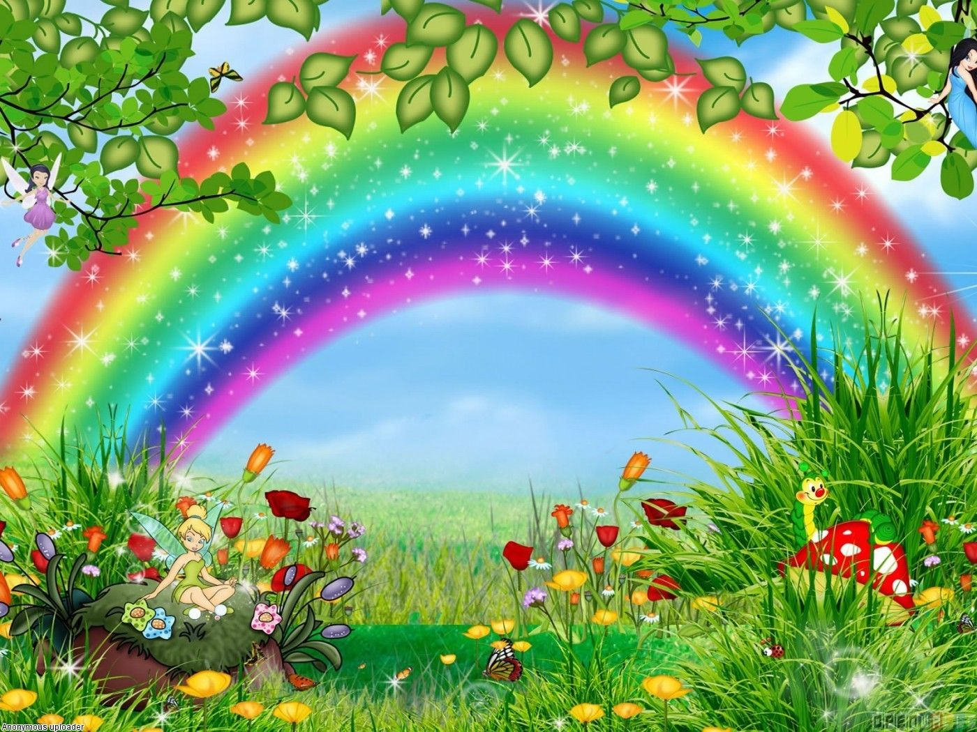 Tinkerbell Vector Disney Tinkerbell Cartoon Wallpaper 6061 Open Walls In 2020 Rainbow Wallpaper Rainbow Art Beautiful Wallpapers