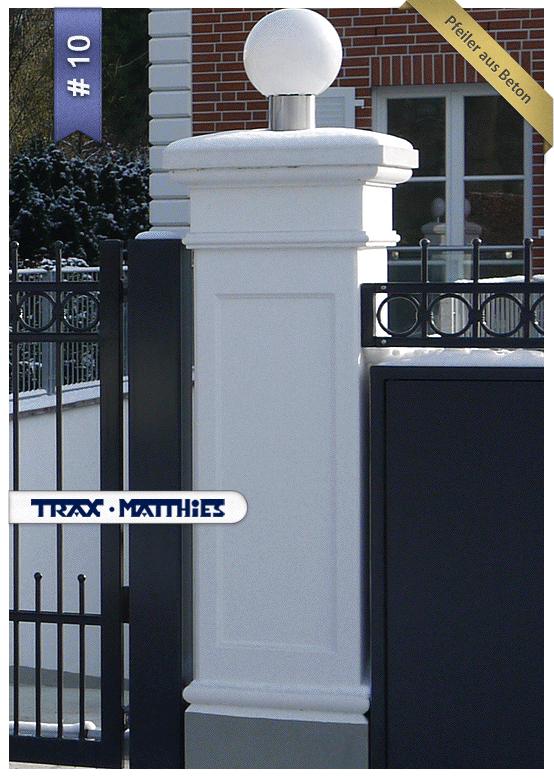 Tor Und Zaunpfeiler Gate And Fence Pillars Bau Haus Garten