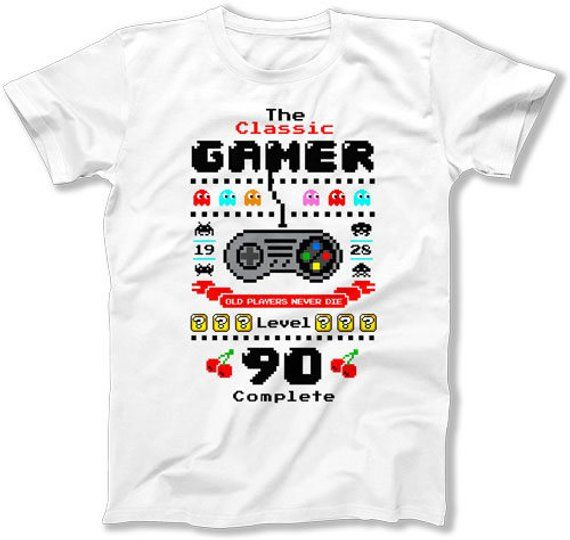 90th Birthday T Shirt Nerd Clothes Bday Gift Ideas For Him Geek Clothing Personalized The Classic Ga