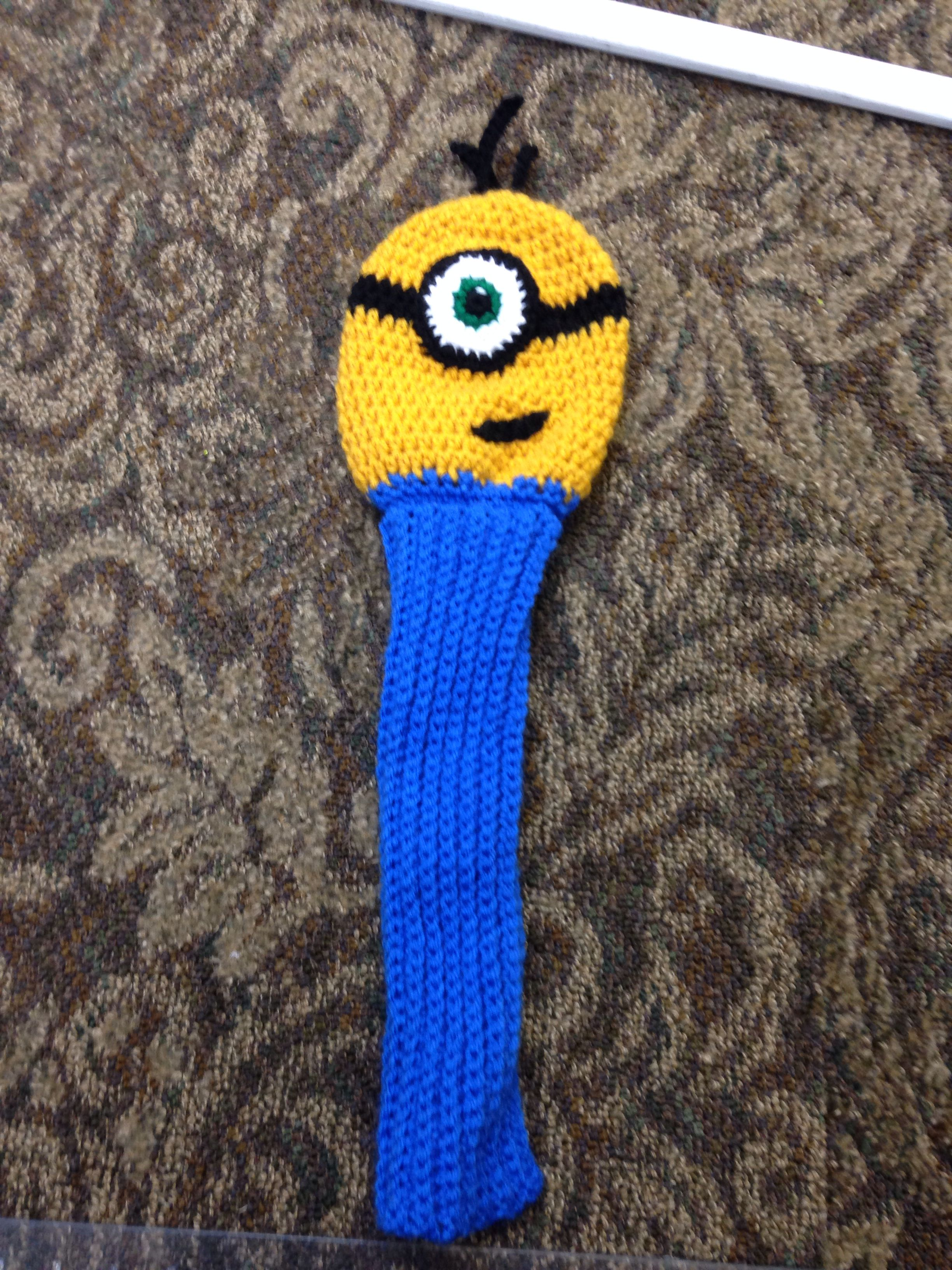 Amigurumi Fan Club Minion : Inspiration Crocheted Minion golf club sock Crochet ...