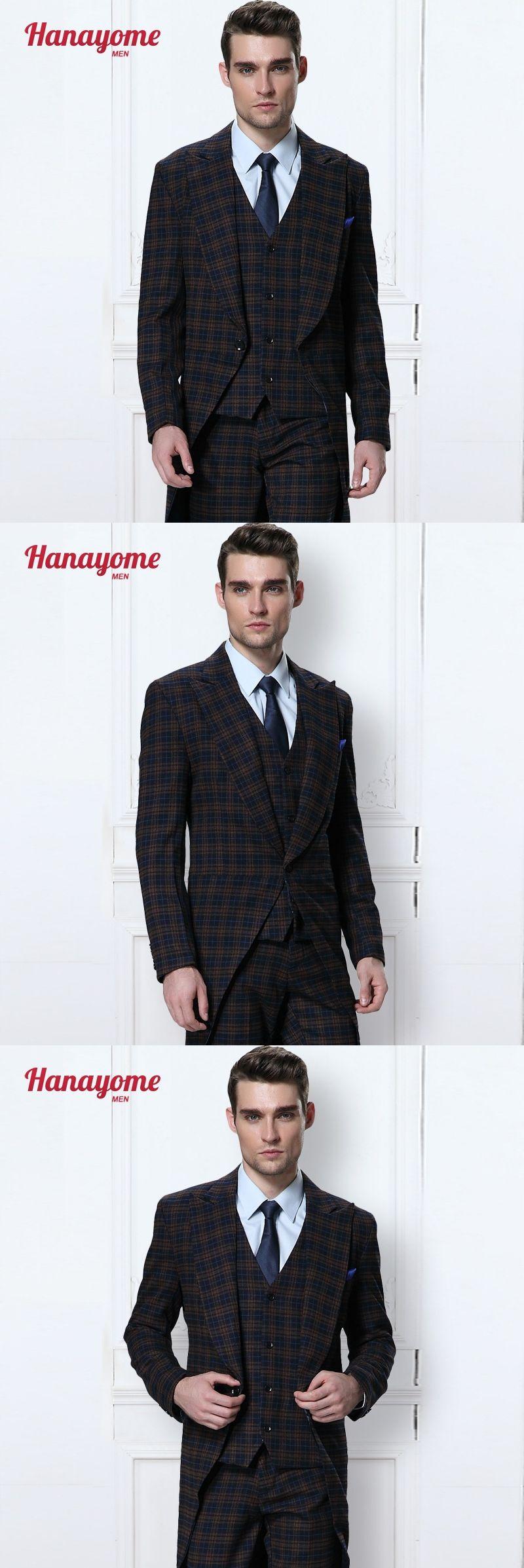 Vintage Suits Men Men\'s 3 Pieces New Fashion Wedding Event Blazer ...