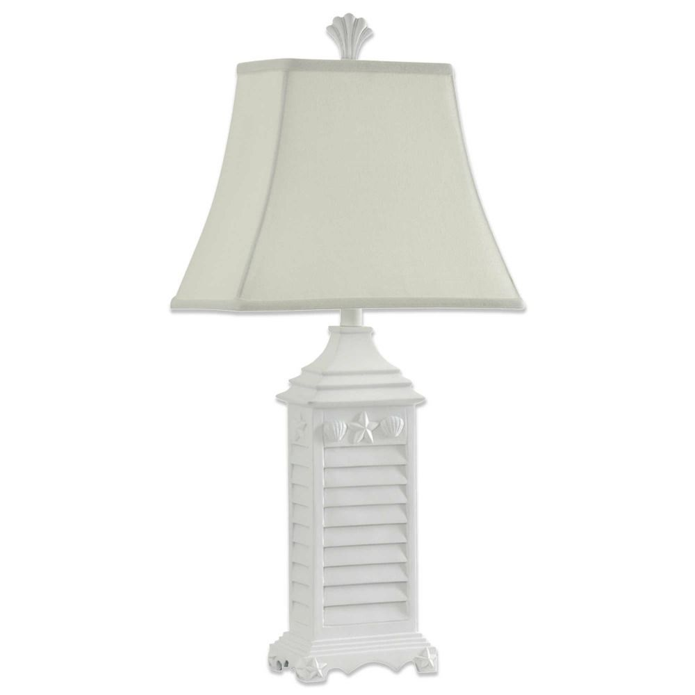 Coastal seashell decor table lamp beach cottage style white coastal seashell decor table lamp beach cottage style white nautical shutter new geotapseo Images