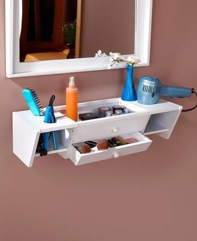 Photo of Unique Home Decor Floating Wall Mounted Bathroom Vanity Organizer Storage Display Shelf