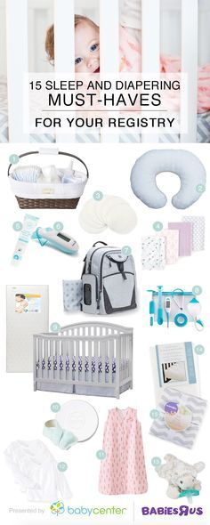 15 sleep and diapering recommendations for your nursery registry - baby registry checklists