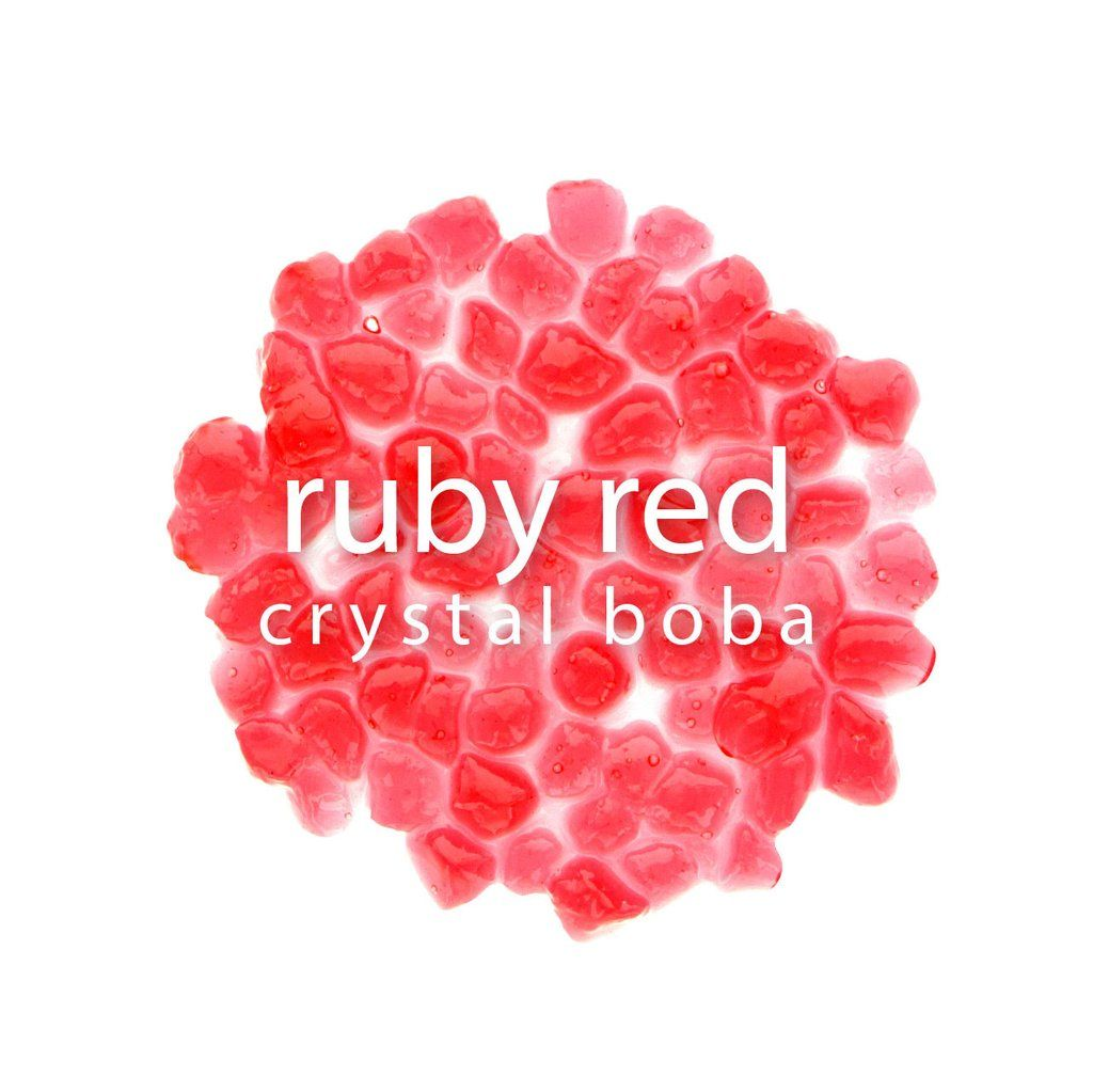 Crystal boba ruby red bubble tea how to make boba