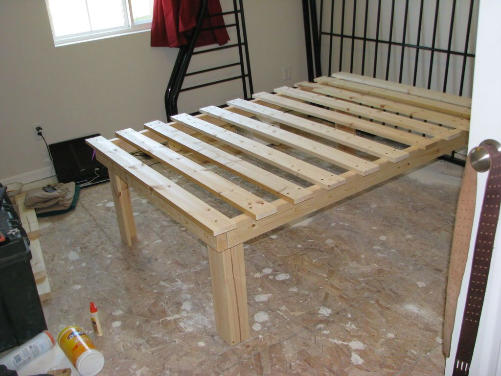 cheap easy low waste platform bed plans - Easy Bed Frame