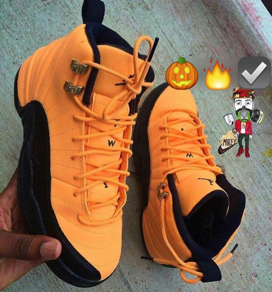Pumpkin 12s @GottaLoveDesss   Jordan shoes girls, Girls shoes ...