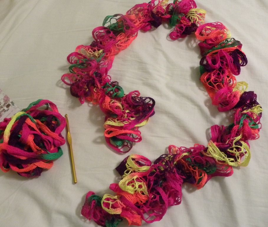 Super Easy Ruffle Yarn Scarf | , Scarves and Ruffle yarn