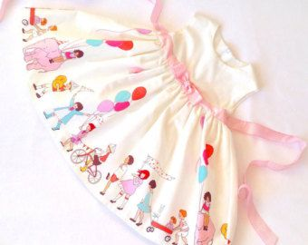 Children at play party dress with sparkly ribbon bows fully lined 1st birthday christmas party dress baby girls dress
