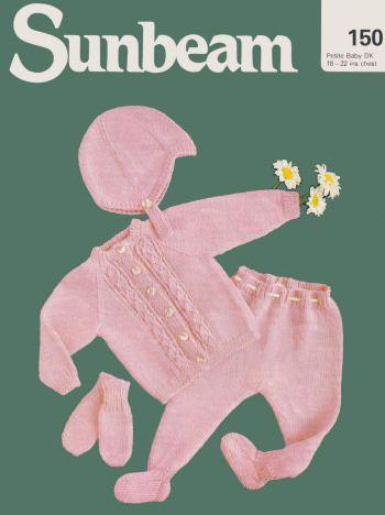 Baby Sweater Leggings Helmer Mittens Knitting Pattern For
