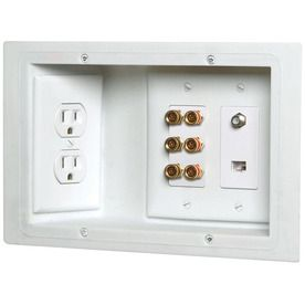 Carlon 3 Gang Low Voltage Plastic Electrical Box From