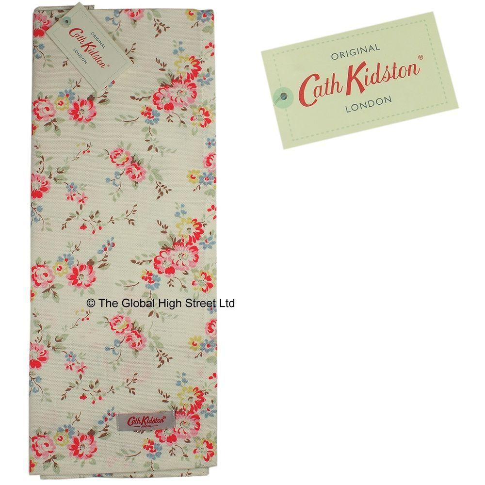 Cath kidston cotton tea towel bleached roses white