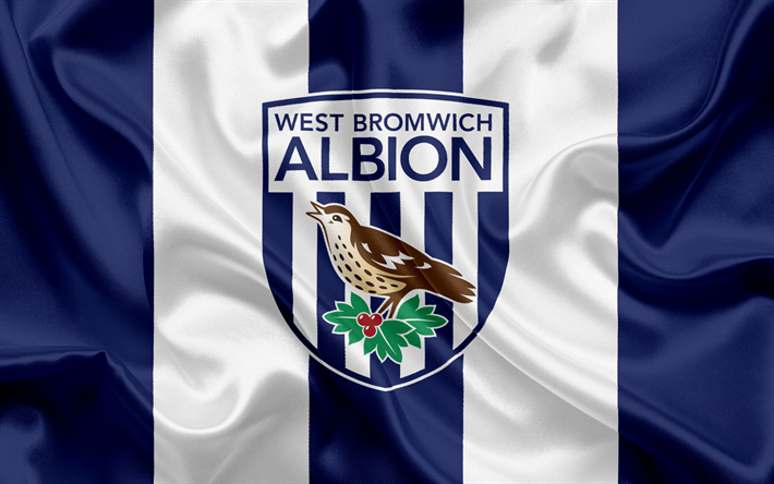 Download Wallpapers West Bromwich Albion Football Club Premier League Football West Bromwich Uk England Flag West Bromwich Emblem Logo English Footbal Premier League Dibujos De Futbol Futbol
