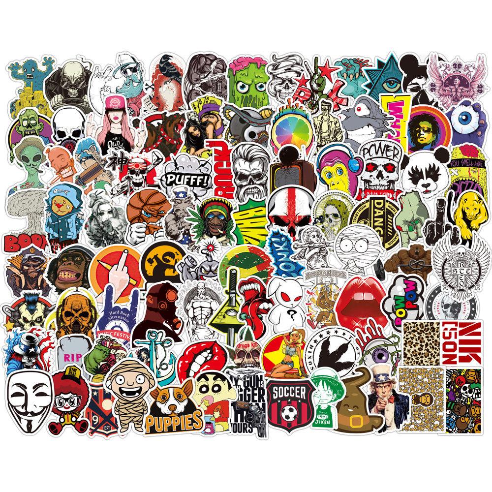 50Pcs Skateboard Stickers Bomb Vinyl Laptop Luggage Decals Dope Sticker # Cool